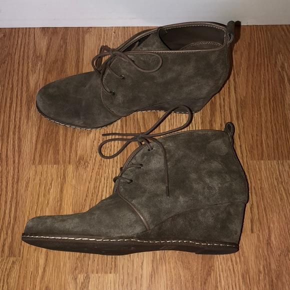 dfb5ae3b409e7 Franco Sarto Shoes   Laceup Bootie Wedges   Poshmark